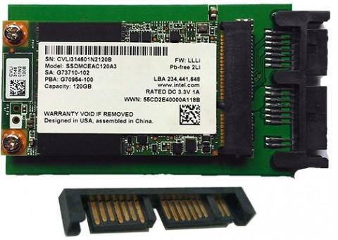 "Хард диск за лаптоп SSD 120GB 1.8"" Micro SATA SSD Intel"