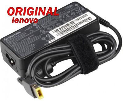 Адаптер за лаптоп ОРИГИНАЛЕН (Зарядно за лаптоп) Lenovo 20V 3.25A 65W (slim tip) правоъгълна букса ремаркетиран