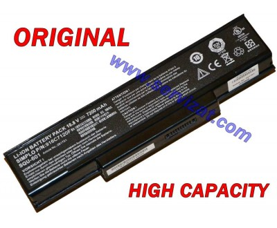 Батерия ОРИГИНАЛНА Gigabyte W451U W551N W566U MSI M655 M660 M675 VR600 VR600 GT620 CR400 PR600 Benq R55 SQU-601 9кл