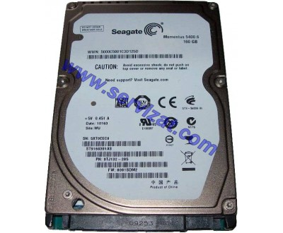 "Хард диск за лаптоп 160GB 2.5"" SATA SEAGATE ST9160314AS ремаркетиран"
